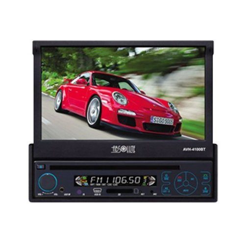Absolute AVH-4100BT 7-Inch In-Dash Touch Screen DVD Multimedia Player with Built-in Bluetooth and Analog TV Tuner SD Card Slot/USB