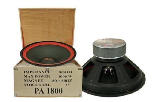 """MR DJ PA-1800 18"""" 1000 Watts Max Dual Magnet Pro DJ Raw Woofers"""
