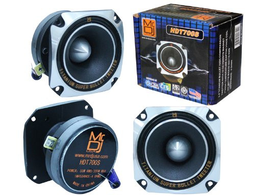 MR DJ HDT700S 3.5-INCH TITANIUM BULLET HIGH COMPRESSION TWEETER WITH 10 OUNCE FERRITE MAGNET (CHROME)