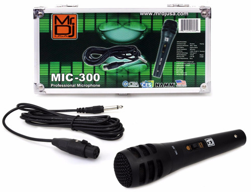 Mr. Dj MIC300 Uni-Directional Dynamic Microphone