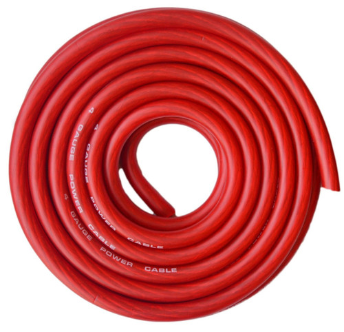 Absolute USA CW4-25R 4 Gauge Red Amplifier Amp Power/Ground Wire 25 Feet SuperFlex Cable 25'