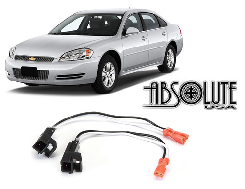 Absolute RADIOKITPKG12 Chevy Impala 2000-2013 Factory Speaker Replacement Connector Harness Package