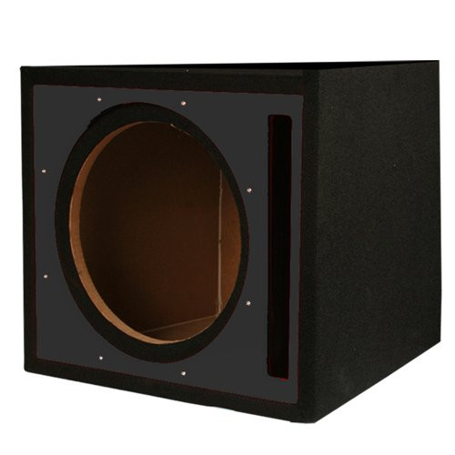 Absolute USA PSEB10BK Single 10-Inch Ported Subwoofer Enclosure with Black High Gloss Face Board