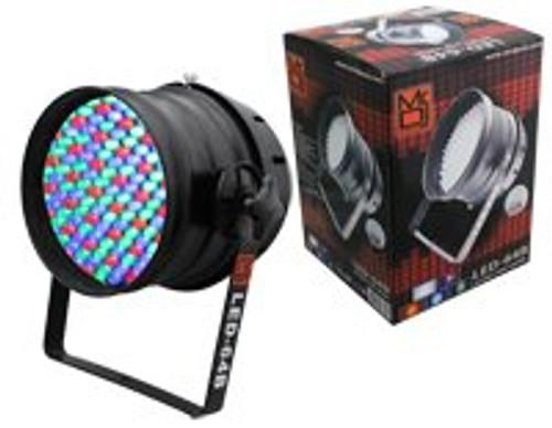 MR DJ LED64B DMX 6-CHANNEL DIMMER/STROBE AUTOMATIC RUNNING 183 LED RGB STAGE PAR CAN LIGHTS PAR64 LIGHTING (BLACK)