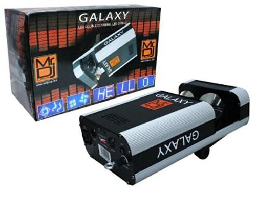 MR.DJ GALAXY DMX 6 CHANNEL LED DOUBLE SCANNING LED EFFECT