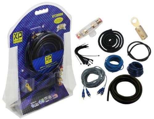 XP Audio KIT2000BK 2000 Watts Max 200-Feet Complete Amplifier Hookup Kit for Battery (Black)