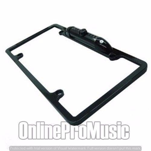 Absolute CAM1500B Universal License Plate Frame with Built in CMOS Waterproof IR Camera (Black)