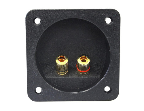 Absolute USA SST-300 3 x 3 Inch Square Gold Twist Banana Jacks Double Binding Post Speaker Box Terminal Cup