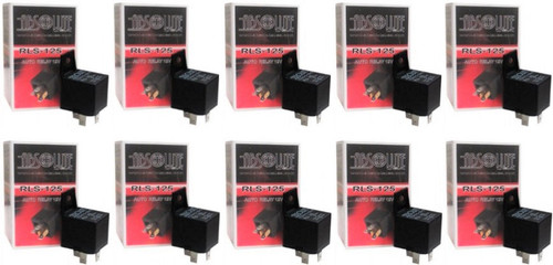 ABSOLUTE RLS125-10 12-VCD AUTOMOTIVE 5 PIN BOSCH / TYCO STYLE RELAY SPDT 30/40A (10 Pack)