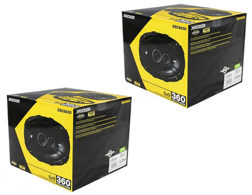 """4 x Kicker DSC6930 (43DSC69304) 720W Peak (180W RMS) 6x9"""" 3-Way DS Series Coaxial Car Speakers ( TWO PAIR )"""