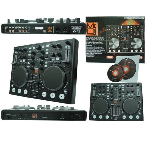 MR DJ MVDJ-8000 USB DJ MIDI CONTROLLER WITH VIRTUAL DJ SOFTWARE