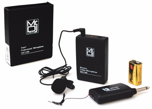 Mr. Dj MIC1200 Lavalier Wireless Microphone System