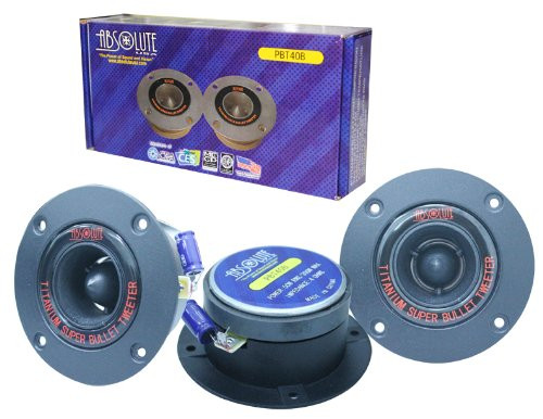 Absolute USA PBT40B 4-Inch Titanium Bullet High Compression Tweeter with 5.4 Oz Ferrite Magnet