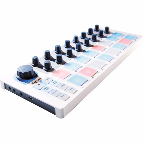 Arturia BeatStep USB/MIDI/CV Controller and 16-step Sequencer, with 16 Velocity/Pressure Sensitive Pads, 16 Encoders, and 16 User Presets