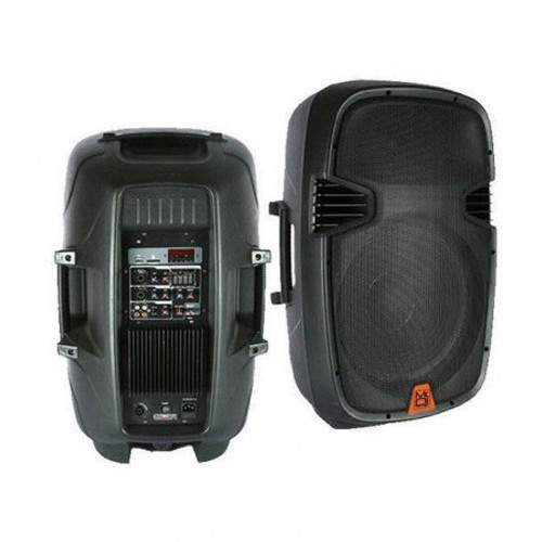 MR DJ PBX-2609BT PORTABLE 15-INCH AMPLIFIED SPEAKER WITH MP3/SD/USB/FM RADIO PLAYER BUILT IN BLUETOOTH, LCD DISPLAY, & REMOTE CONTROL