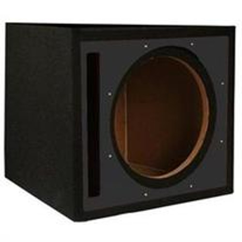 ABSOLUTE USA PSEB12BK Single 12-INCH PORTED SUBWOOFER ENCLOSURE WITH BLACK HIGH GLOSS FACE BOARD AND BLACK CARPET