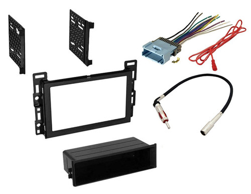 Car Radio Stereo CD Player Dash Install Mounting Trim Bezel Panel Kit + Harness -23