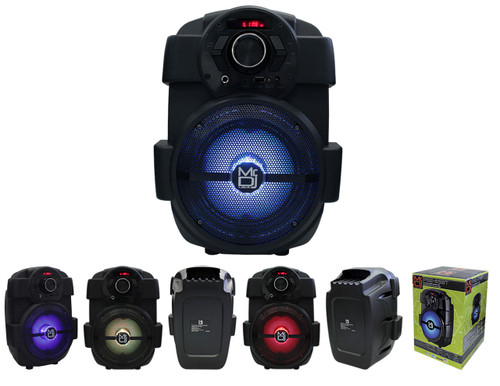 "MR DJ PSE65BT 6.5"" Portable Active Speaker with Rechargeable Battery Party Speaker with Bluetooth 1000 Watts P.M.P.O"