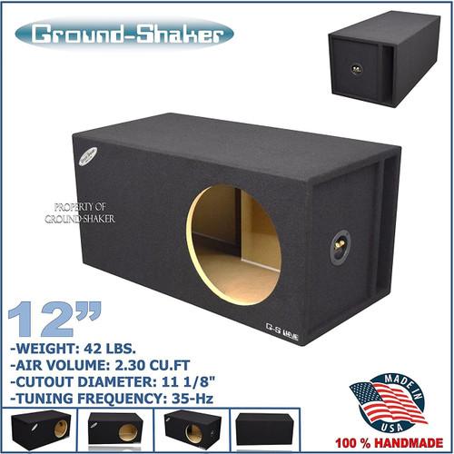 "GROUND SHAKER GSSQPXL112 12"" SINGLE VENTED SLOT PORTED SUB BOX"