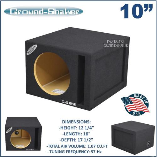 "Ground shaker SQP110B 10"" single ported / vented sub box subwoofer enclosure"