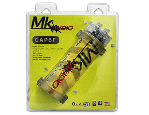 MK AUDIO CAP6F 6 FARAD POWER CAR CAPACITOR FOR ENERGY STORAGE TO ENHANCE BASS DEMAND FROM AUDIO SYSTEM
