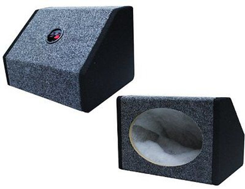ABSOLUTE PAIR 6X9 WEDGE  2 TONE PANDA STYLE MDF SPEAKER BOX W/ CARPET & TERMINAL CUPS