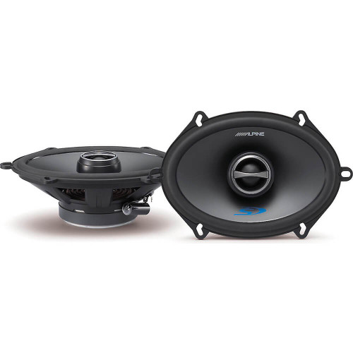 "Alpine Type-S SPS-517 460W Max (150W RMS) 5"" x 7"" / ""6 x 8"" 2-Way Type-S Series Coaxial Car Speakers"