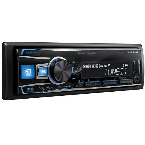 Alpine UTE-62BT Single DIN Mechless Bluetooth In-Dash AM/FM/Digital Media Car Stereo Receiver