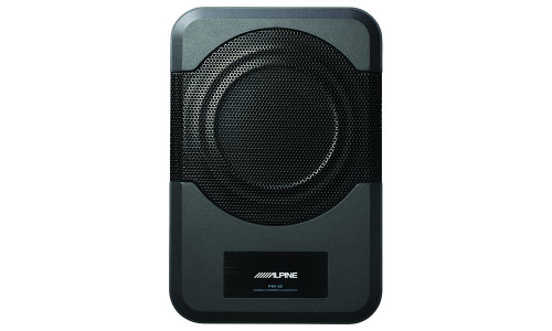 "Alpine PWE-S8 8"" Amplified Subwoofer 120W Compact Powered 8"" Car Subwoofer for Under or Behind the Seat"