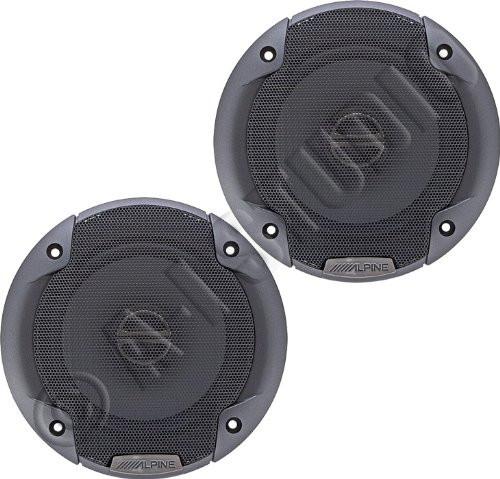 """Alpine SPE-5000 400W Peak (100W RMS) 5-1/4"""" Type-E Coaxial 2-way Car Speakers"""