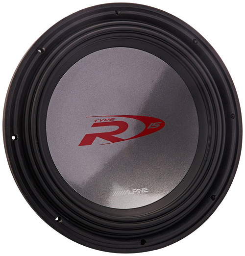 "Alpine Type-R SWR-1522D 2000W Peak 15"" Type-R Series Dual 2 ohm High Performance Subwoofer"