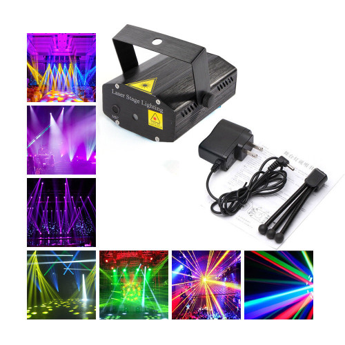 MR DJ LZ-110 SOUND ACTIVATED MULTI-PATTERN MINI LASER PROJECTOR STAGE LIGHTING ADJUSTMENT DJ DISCO KTV PARTY CLUB