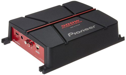 Pioneer GM-A3702 500W Peak (190W RMS) 2-Channel A Series Bridgeable Class AB 2-Ohm Stable Car Amplifier