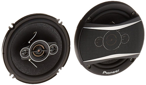 """Pioneer TS-A1686R 350W 6.5"""" 4-Way TS-A Series Coaxial Speakers w/ Balanced Dome Tweeters"""