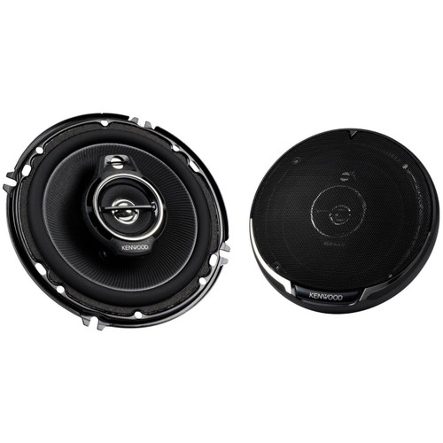 "Kenwood KFC-1695PS 150W 6.5"" 3-Way Performance Series Flush Mount Coaxial Speakers w/ Paper Cone Tweeters"