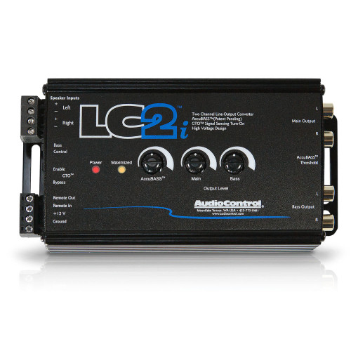 AudioControl LC2i - Black 2 Channel Line Out Converter with AccuBASS