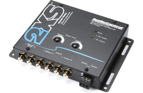 AudioControl 2XS Crossover - Black Concert Series Two Way Crossover