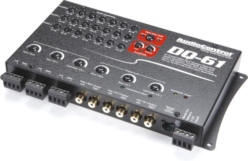 AudioControl DQ-61 - Black 6-Channel Equalizer and Line Output Converter with AccuBass