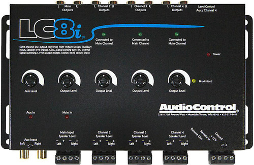 AudioControl LC8i - Black 8 Channel Line Output Converter with Auxiliary Input