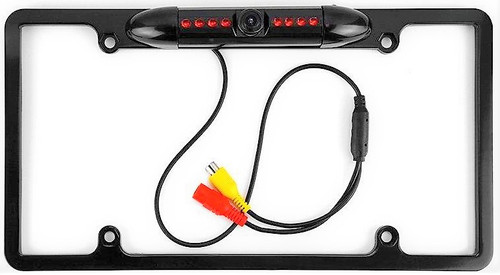 ABSOLUTE CAM-1500B UNIVERSAL LICENSE PLATE FRAME REAR VIEW CAMERA W/ BUILT-IN I.R. CAMERA
