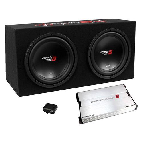 "Cerwin Vega BKX7212S 3000W MAX Basskit XED Dual 12"" Loaded Sealed 3/4"" MDF Enclosure w/1000W MAX amplifier"