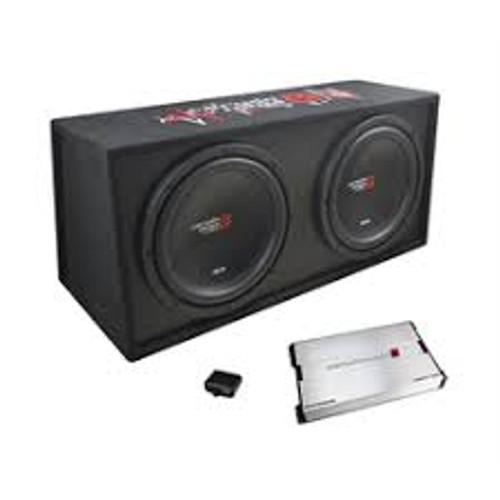 "Cerwin Vega BKX7212V 12"" 3000 Watt Dual Subwoofer Vented Amplified Enclosur 3000 Watt Basskit XED Dual 12"" loaded vented 3/4"" MDF encl w/amplifier"