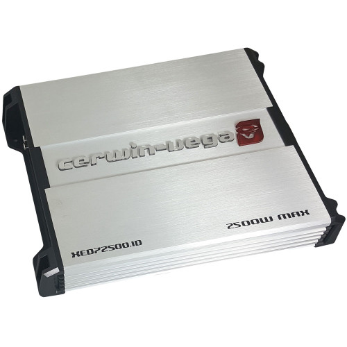 Cerwin Vega XED72500.1D 2500W Max (500W RMS) XED Series Class-A/B Monoblock 1 Ohm Stable Amplifier with Bass Knob Included