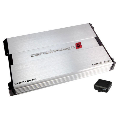 Cerwin Vega XED71200.1M 1200W Max (450W RMS) XED Series Class-A/B Monoblock 2 Ohm Stable Amplifier with Bass Knob Included