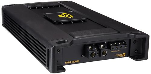 Cerwin-Vega SPRO2100.1D 2100W Peak (2100W RMS) Stroker Pro Series Class-D Monoblock 1-Ohm Stable Amplifier with Bass Knob