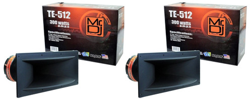 "2 Mr DJ Te-512 5""x12"" 300w Pro Audio Pa/dj Wide Screw-on Type Piezo Horn Tweeter"