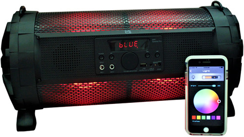 MR DJ Portable Bluetooth Speaker w/ Lights, Battery, AUX, USB/SD and FM Radio with APP