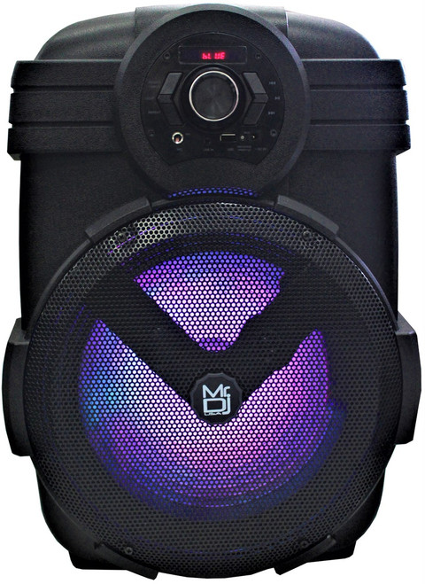 "MR DJ YUMA 12"" Rechargeable Party Speaker +Bluetooth+USB/FM Radio+LED Light"