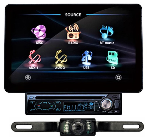 Absolute AVH-1100ABT 11-Inch TFT LCD Motorized Monitor Digital Video Multimedia Player with Bluetooth Analog TV Tuner + Absolute CAM600 Rear-View Camera