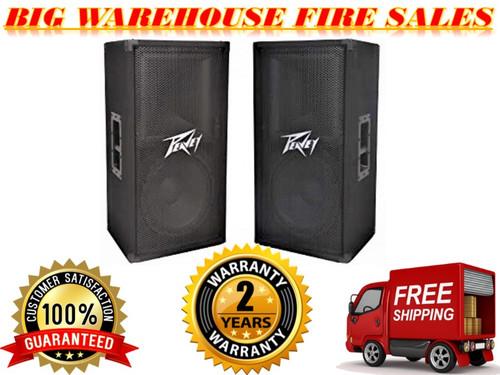 "(2) Peavey PV112 12"" Two Way 1600 Watt Pro Audio DJ Live Sound Speakers"